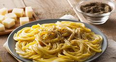 Spaghetti cacio, pepe e Pecorino